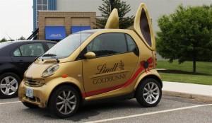 lindt gold bunny car